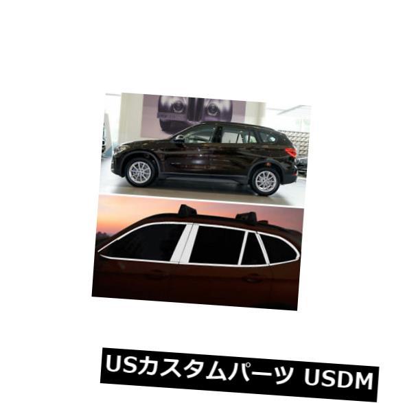 ドアピラー BMW X1用センターピラー付きフルウィンドウズ成形トリム装飾ストリップ Full Windows Molding Trim Decoration Strips w/ Center Pillar For BMW X1