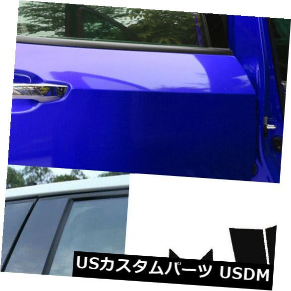 ドアピラー ホンダシビック2016-2018 6pcセットウィンドウトリムカバーのための光沢のある黒い柱ポスト Glossy Black Pillar Posts For Honda Civic 2016-2018 6pc Set Window Trim Cover