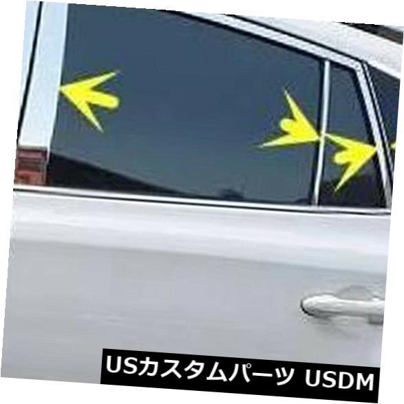 ドアピラー トヨタRAV4 2013-2018ステンレスウィンドウセンターピラーウィンドウミドルカバー For Toyota RAV4 2013-2018 Stainless Window Center Pillar Window Middle Cover