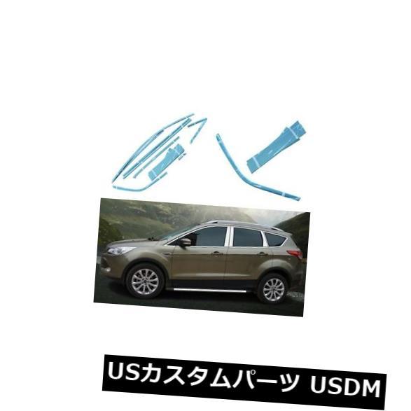 ドアピラー フォードKugaのための完全なウィンドウズクロム鋳造物のトリムの装飾の中心の柱 Full Windows Chrome Molding Trim Decoration Center Pillar For Ford Kuga