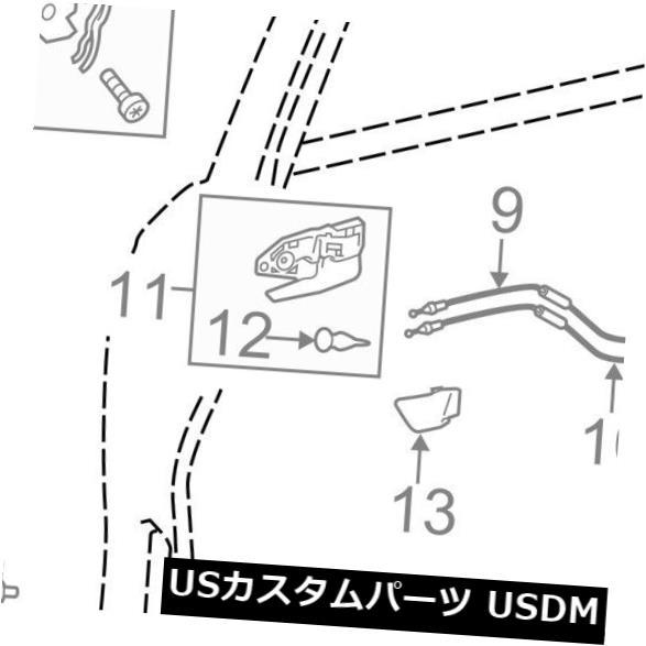 ドアノブ ドアハンドル トヨタOEM 14-15ハイランダーアウト サイドエクステリアドアハンドル692110E010J1 TOYOTA OEM 14-15 Highlander-Outside Exterior Door Handle 692110E010J1