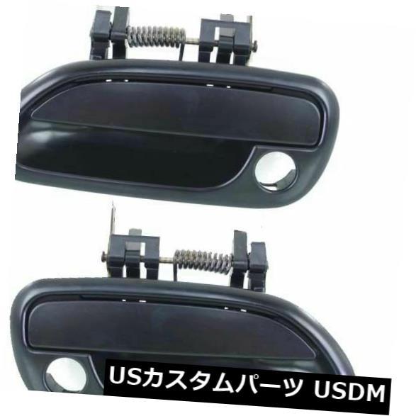 ドアノブ ドアハンドル 2 LHとRHサイドのエクステリアドアハンドルをフロントにセットしたブラックフィットレガシィ Front Set Of 2 LH And RH Side Exterior Door Handle Primed Black Fits Legacy