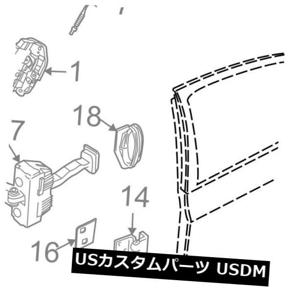 ドアノブ ドアハンドル BMW OEM 04-10 X3ロックハードウェア - リアドア - ハンドル、外側パッド右51213403760 BMW OEM 04-10 X3 Lock Hardware-Rear Door-Handle. Outside Pad Right 51213403760