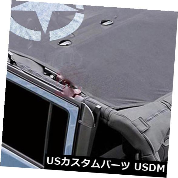 メッシュトップカバー サンシェードビキニソフトトップメッシュカバー2007-2017ジープラングラーJK JKU 4ドア#s SunShade Bikini Soft Top Mesh Cover For 2007-2017 Jeep Wrangler JK JKU 4-Door #s