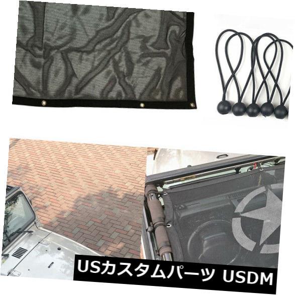 メッシュトップカバー ブラックダイヤモンドフルメッシュサンシェードサファリビキニトップカバージープラングラーTJ Black Diamond Full Mesh Sun Shade Safari Bikini Top Cover For Jeep Wrangler TJ
