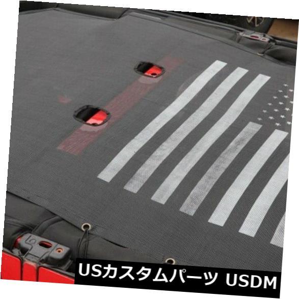 メッシュトップカバー ジープラングラーJL 4ドアのための拡張メッシュサンシェードソフトトップカバーUV保護 Extended Mesh Sun Shade Soft Top Cover UV Protection For Jeep Wrangler JL 4 Door