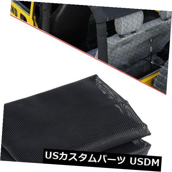 メッシュトップカバー ジープラングラーTJのための日よけの日食の紫外線保護屋根の網の上カバー適合 Sun Shade Eclipse UV Protection Roof Mesh Top Cover Fit For Jeep Wrangler TJ