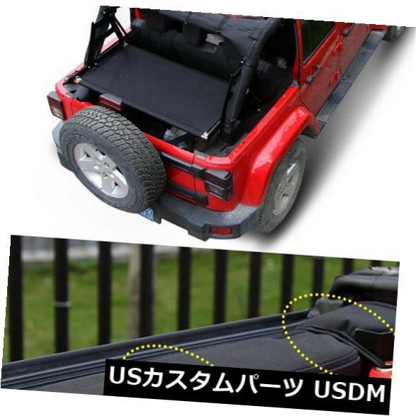 メッシュトップカバー 07-18にフィットジープラングラーJK 4dr車の屋根のメッシュサンシェードトップカバーUV保護レッド Fits 07-18 Jeep Wrangler JK 4dr Car Roof Mesh Sunshade Top Cover UV Protect Red