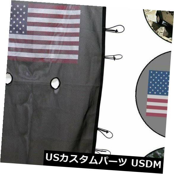 メッシュトップカバー ジープラングラー4ドアJK 07-18用フロントサンシェードメッシュソフトトップカバー(アメリカ国旗) Front Sunshade Mesh Soft Top Cover for Jeep Wrangler 4-Door JK 07-18 (USA Flag)