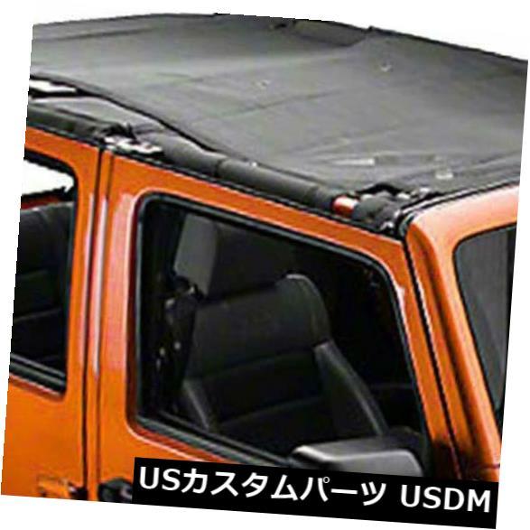 メッシュトップカバー ジープラングラーメッシュシェードトップカバーはUV保護を提供します2007-2017 4ドアJK ... Jeep Wrangler Mesh Shade Top Cover Provides UV Protection 2007-2017 4-Door JK...