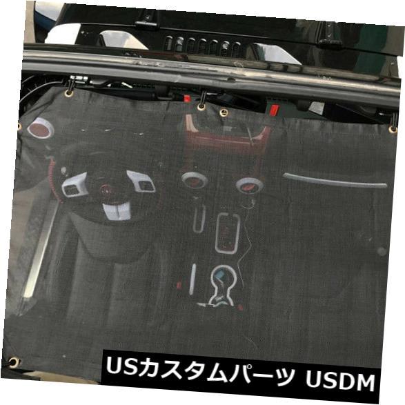 メッシュトップカバー フィット2007-18ジープラングラーJK 2dr車の屋根サンシェードメッシュトップカバーUV保護 fit 2007-18 Jeep Wrangler JK 2dr Car Roof Sunshade Mesh Top Cover UV Protection