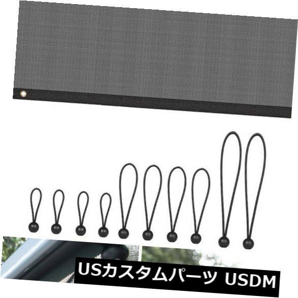 メッシュトップカバー ジープラングラーJLの付属品のための網ビキニの柔らかい上カバーUVの日曜日の陰の屋根の網 Mesh Bikini Soft Top Cover UV Sun Shade Roof Net For Jeep Wrangler JL Accessory
