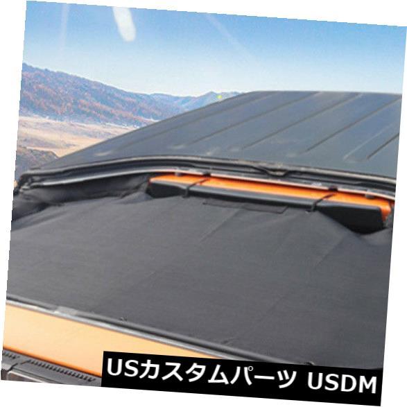 メッシュトップカバー 2007-17ジープラングラーのための黒4ドアサンシェードエクリプストップカバールーフメッシュ Black 4 Door Sun Shade Eclipse Top Cover Roof Mesh for 2007-17 Jeep Wrangler