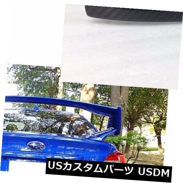 トランクリッドガーニッシュ カーボン+ K7Xブルー15-17用スバルsti WRXリアトランクリッドガーニッシュトリムカバー Carbon + K7X blue For 15-17 For Subaru sti WRX Rear Trunk Lid Garnish Trim Cover
