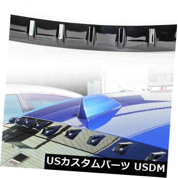 ルーフスポイラー SUBARU WRX STI 4th 4DRリアフィンウィンドウルーフスポイラーウイング15-19用光沢ブラック Glossy Black For SUBARU WRX STI 4th 4DR Rear Fin Window Roof Spoiler Wing 15-19