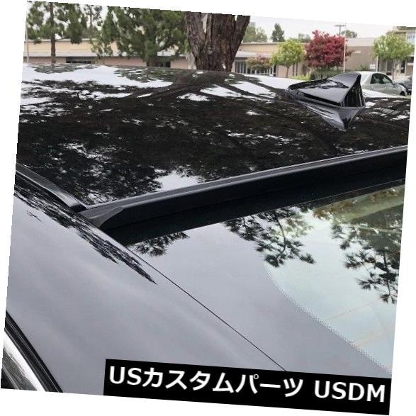 ルーフスポイラー 2011-2016年用ダッジチャージャー - リアウィンドウルーフスポイラー(Unpain  ted)フラットブラック For 2011-2016 Dodge Charger-Rear Window Roof Spoiler(Unpainted)Flat Black