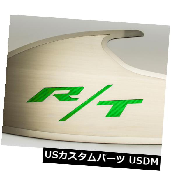 USメッキパーツ ダッジチャレンジャードアバッジ起毛「RT」スタイルカラーグリーンまたはポリッシュレター Dodge Challenger Door Badges Brushed