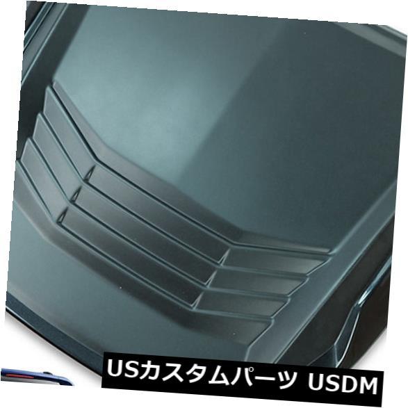 USメッキパーツ ボンネットフードスクープカバーマット/ポリッシュブラックフィットフォードレンジャーT6ピックアップ2015-17 Bonnet Hood Scoop Cover Matte / Polish Black Fit Ford Ranger T6 Pickup 2015 - 17