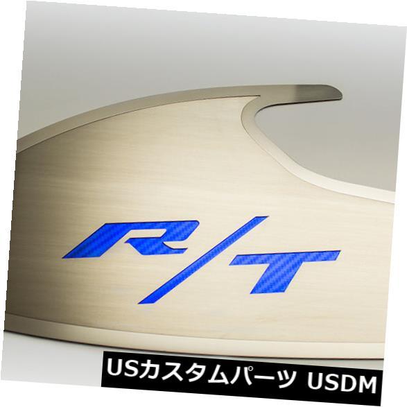 USメッキパーツ ダッジチャレンジャードアバッジ起毛「RT」スタイルポリッシュレターブルー Dodge Challenger Door Badges Brushed