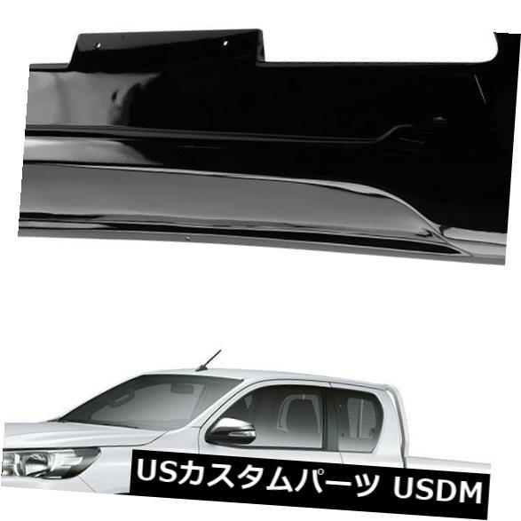 USメッキパーツ フロントバンパーガードカバーポリッシュブラックトリムフィットトヨタハイラックスレボ15 2016 17 Front Bumper Guard Cover Polished Black Trim Fits Toyota Hilux Revo 15 2016 17