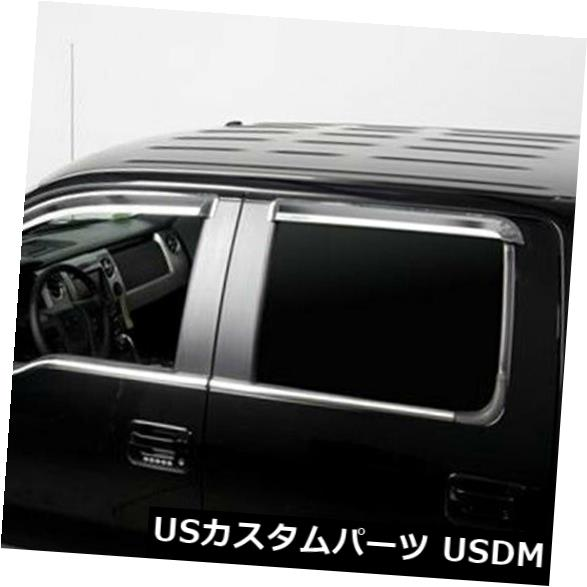 USメッキパーツ 2009-2014フォードF150クルーキャブ用Putcoポリッシュウィンドウトリム Putco Polished Window Trim for 2009-2014 Ford F150 Crew Cab