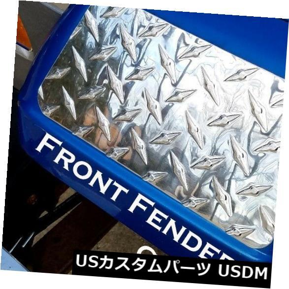 USメッキパーツ ジープラングラーYJ高度に研磨されたアルミニウムダイヤモンドプレートフロントフェンダーカバーセット Jeep wrangler YJ Highly Polished Aluminum Diamond Plate Front Fender Covers Set