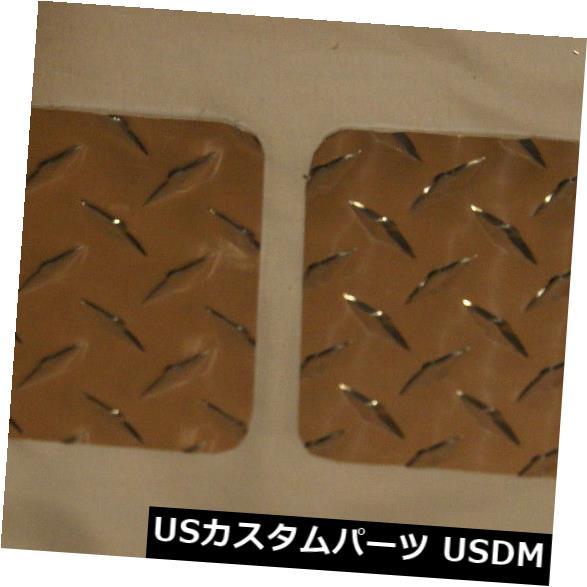USメッキパーツ 1987-1995ジープダイヤモンドプレートYJラングラーポリッシュオフロードフロントフェンダーカバー 1987 - 1995 JEEP DIAMOND PLATE YJ WRANGLER POLISHED OFF-ROAD FRONT FENDER COVERS