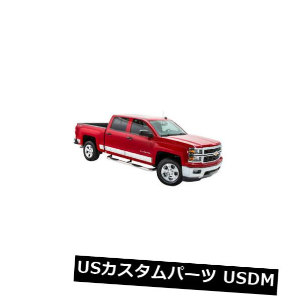 USメッキパーツ T2277-304M NEWポリッシュロッカーパネルカバー14-17 SIERRA EXT CAB 6.5 BED  T2277-304M NEW Polished Rocker Panel Covers 14-17 SIERRA EXT CAB 6.5 BED