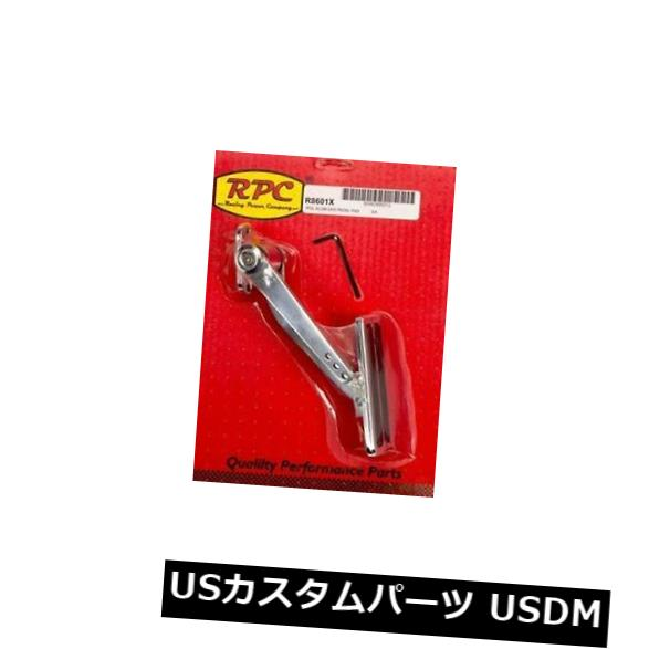 USメッキパーツ Racing Power Company R8601Xアルミニウムパッドアーム付きアルミニウムガスペダル Racing Power Company R8601X Polished Aluminum Gas Pedal with Aluminum Pad Arm