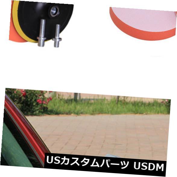 USメッキパーツ カーポリッシャーバッファーコンパウンド用6個のスポンジ研磨バフ研磨パッド4インチ 6Pcs Sponge Polishing Buffing Waxing Pad For Car Polisher Buffer Compound 4 inch