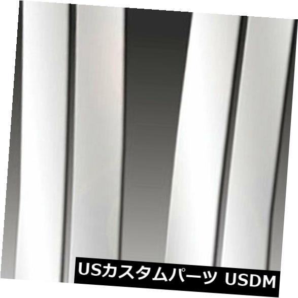 USメッキパーツ 1988-98シボレーC10レギュラー/ Extキャブ用プレミアムFX 4個研磨柱ポストカバー Premium FX 4pc Polished Pillar Post Covers for 1988-98 Chevy C10 Regular/Ext Cab