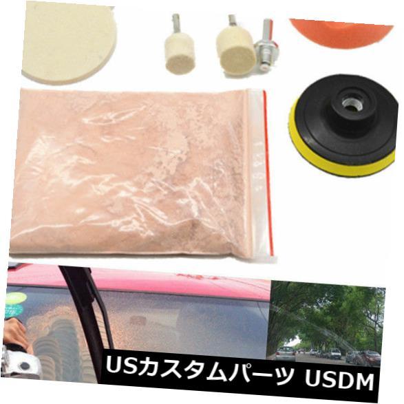 USメッキパーツ 車のフロントガラスガラススクラッチ研磨リムーバーセリウム粉末ウールホイールパッドツール Car Windshield Glass Scratch Polishing Remover Cerium Powder Wool Wheel Pad Tool