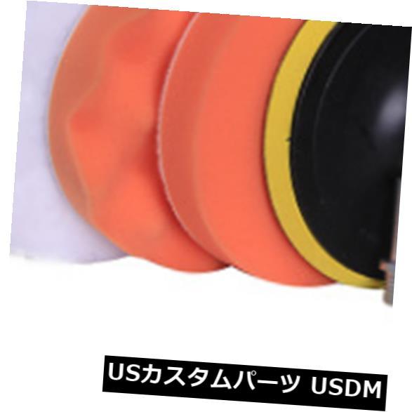 USメッキパーツ 車のペンキのポリッシャーの緩衝のためのワックスをかけるスポンジパッドを磨く4インチの磨く車輪 4 inch Buffing Wheel Polishing Waxing Sponge Pads For Car Paint Polisher Buffer