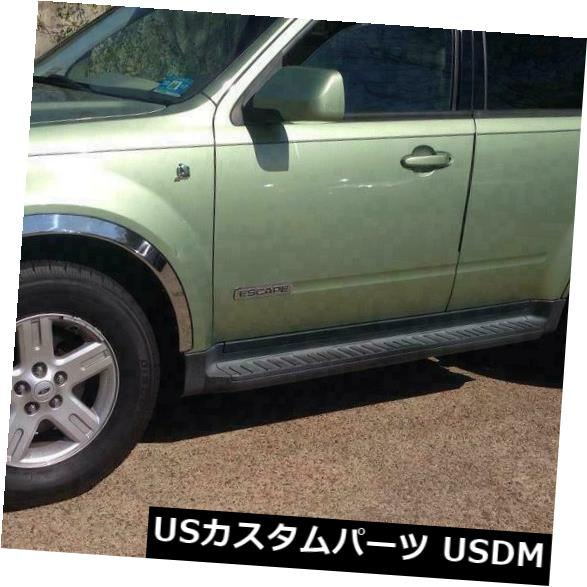 TRIM FORD FENDER 4 ESCAPE FOR FORD TRIM FENDER Polished USメッキパーツ ESCAPE Steel SET/4 / 01-07 Mirror FOR Stainless 01-07ミラーポリッシュステンレススチールSET