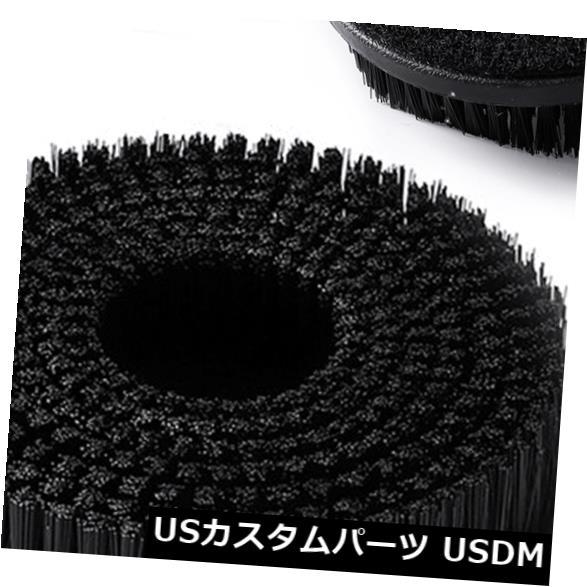 USメッキパーツ DA /ロータリーポリッシャーを取り付けるための2MMショートヘアブラシカーカーペットクリーニングツールブラシ 2MM Short Hair Brush Car Carpet Cleaning Tool Brush to Attach DA/Rotary Polisher
