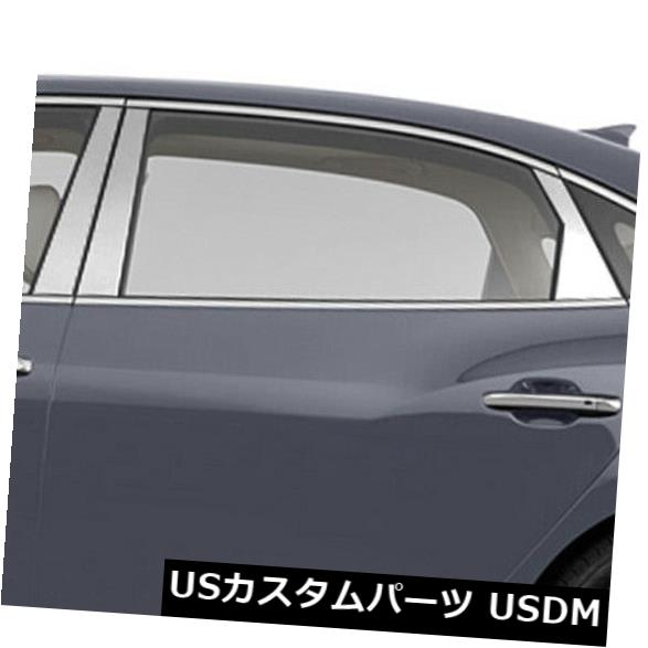 USメッキパーツ 2012-2017 Hyundai Equusの柱ポストカバー(ステンレス6個) Pillar Post Covers for 2012-2017 Hyundai Equus (Stainless Steel 6pc)