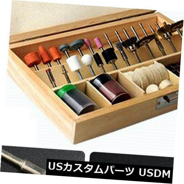 USメッキパーツ 箱が付いている100Pcs回転式多用具の粉砕の磨く切断ビット付属品のキット 100Pcs Rotary Multi Tool Grinding Polishing Cutting Bit Accessory Kit With Box