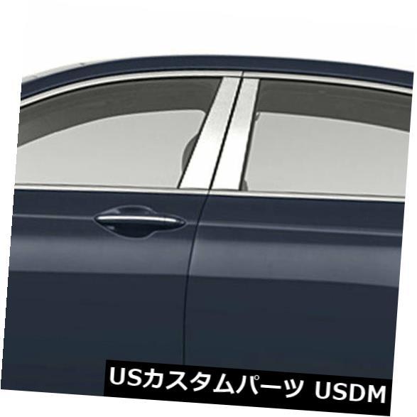 車用品 バイク用品 >> パーツ 外装 安全 エアロパーツ その他 USメッキパーツ 2015-2019ヒュンダイジェネシスセダンの柱ポストカバー ステンレス 4p Post 完全送料無料 Pillar Hyundai Steel for 2015-2019 Stainless Covers Genesis Sedan
