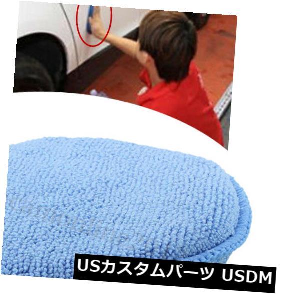 USメッキパーツ 1xポリッシュフォームスポンジカーアプリケータークリーニングマイクロファイバーワックスパッド新しい便利な 1x Polish Foam Sponge Car Applicator Cleaning Microfiber Waxing Pads New Useful