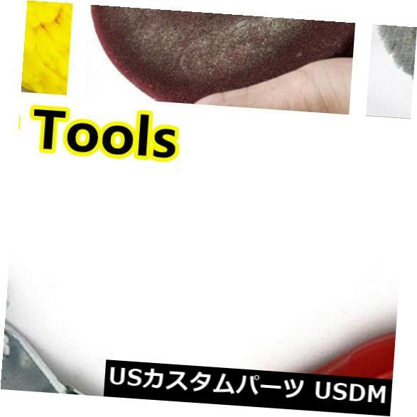 USメッキパーツ シルバーカーポリッシャーバッファーポリッシングバフ研磨パッドクリーニングスパーハンドルツール Silver Car Polisher Buffer Polishing Buffing Pad Cleaning Spur Handle Tools
