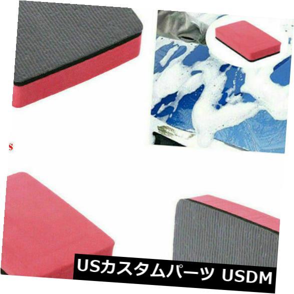 USメッキパーツ 便利な車のマジッククレイバーパッドスポンジブロッククリーニング消しゴムワックスポリッシュパッド1個 Useful Car Magic Clay Bar Pad Sponge Block Cleaning Eraser Wax Polish Pad 1Pc