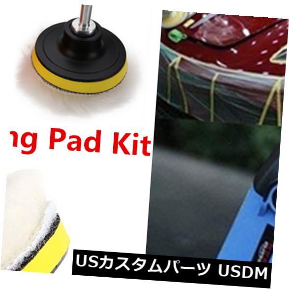 USメッキパーツ 7 PCS 3インチバフ研磨パッドワックスポリッシャーカースレッドドリル研磨スポンジパッドキット 7 PCS 3 Inch Buffing Pads Wax Polisher Car Thread Drill Polishing Sponge Pad Kit