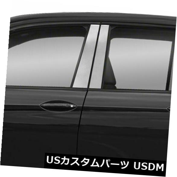 USメッキパーツ 2017-19ホンダリッジライン用ダイヤモンドグレード4pcステンレス鋼柱ポストカバー Diamond Grade 4pc Stainless Steel Pillar Post Covers for 2017-19 Honda Ridgeline