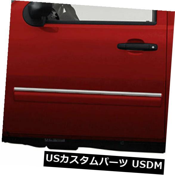 USメッキパーツ 09-13シェビーシルバラードレグキャブ用アッパーアクセントサイドモールディングトリム[ステンレス] 2p Upper Accent Side Molding Trim for 09-13 Chevy Silverado Reg Cab [Stainless] 2p