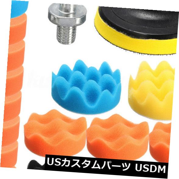 USメッキパーツ カーポリッシャー用19x 3インチ80mmスポンジバフバフ研磨パッドキットセットグッド 19x For Car Polisher 3 inch 80mm Sponge Buff Buffing Polishing Pad Kit Set Good