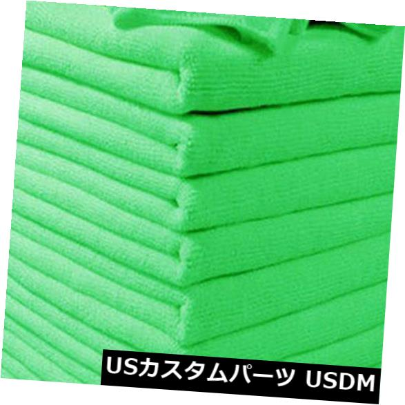 USメッキパーツ 10Xカークリーニングディテールマイクロファイバーグリーンソフトクロスウォッシュタオルポリッシュダスター 10X Car Cleaning Detailing Microfibre Green Soft Cloths Wash Towel Polish Duster