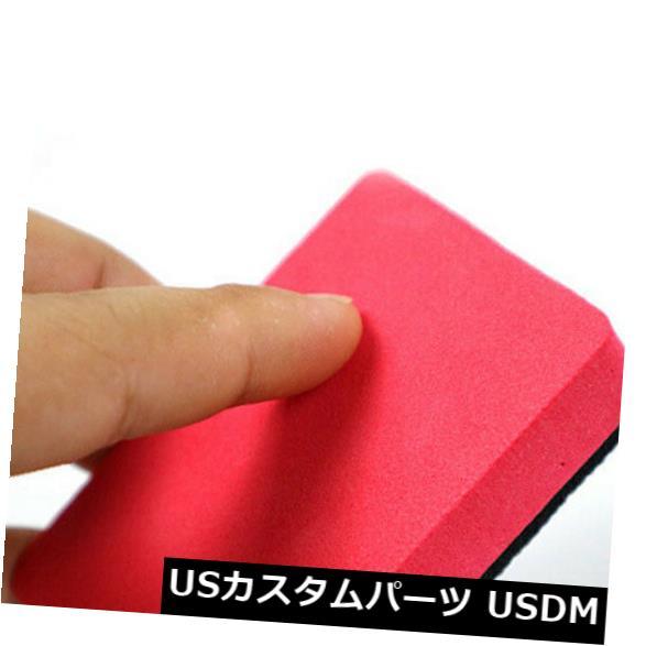 USメッキパーツ 1xカーマジッククレイバーパッドスポンジブロッククリーニング消しゴムワックスポリッシュパッドツールトップ 1x Car Magic Clay Bar Pad Sponge Block Cleaning Eraser Wax Polish Pad Tools Top