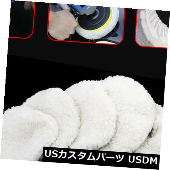 USメッキパーツ 6 * 5-6インチ車のポリッシャーのために合う白い磨くボンネットの緩衝パッドの柔らかいウール 6* White Polishing Bonnet Buffer Pads Soft Wool Fit For 5-6 inch Car Polisher
