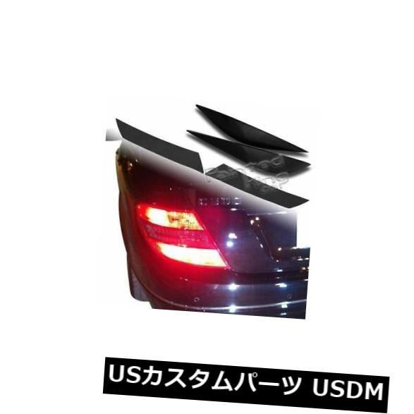 アイライン メルセデスW204眉毛まぶた+ブラックテールライトステッカーの未塗装ヘッドライト Unpainted Headlight For Mercedes W204 Eyebrows Eyelids + Black Taillight Sticker