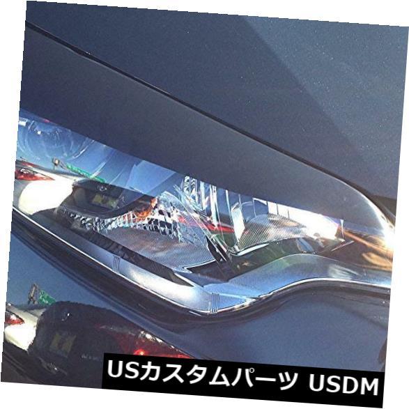 アイライン 2014カローラグロスブラックヘッドライトアイリッド+サイドマーカーオーバーレイプレカット4ピース 2014 Corolla Gloss Black Headlight Eyelid + Side Marker overlays pre-cut 4 piece